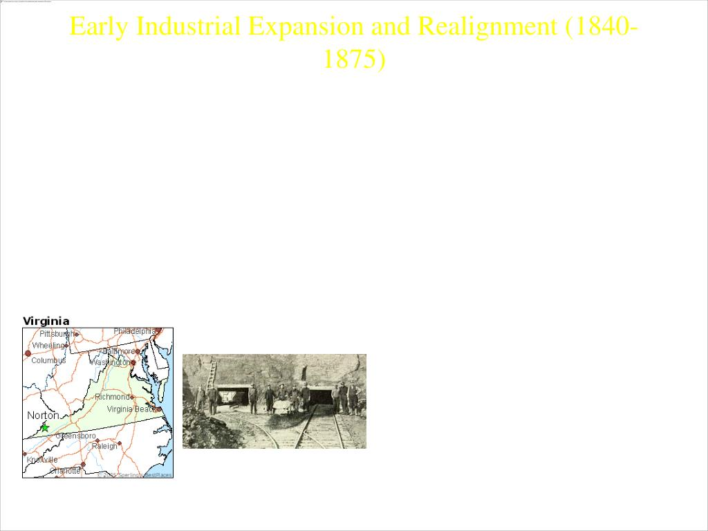 1840s – Transition from a trading economy to a mature agricultural and growing industrial economy in US (Technologies from Europe, improved Ag. Production and immigrants from Europe)