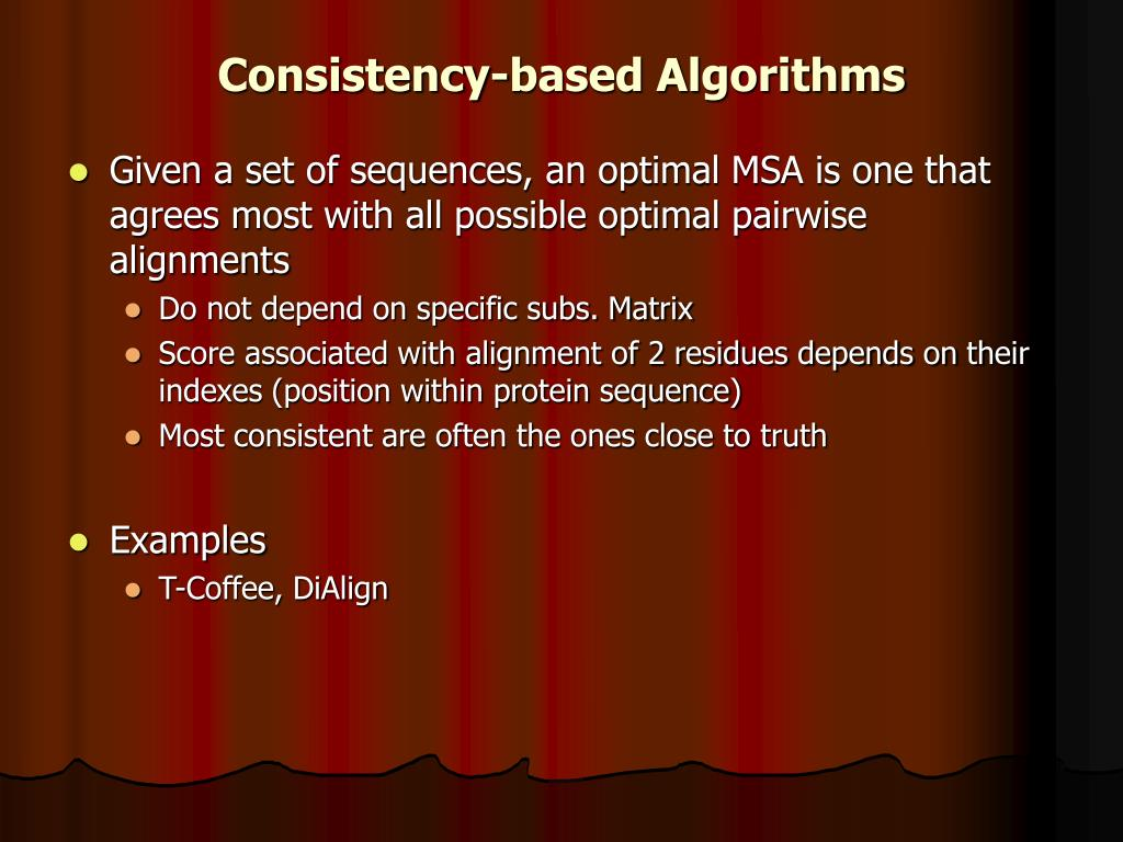 Consistency-based Algorithms