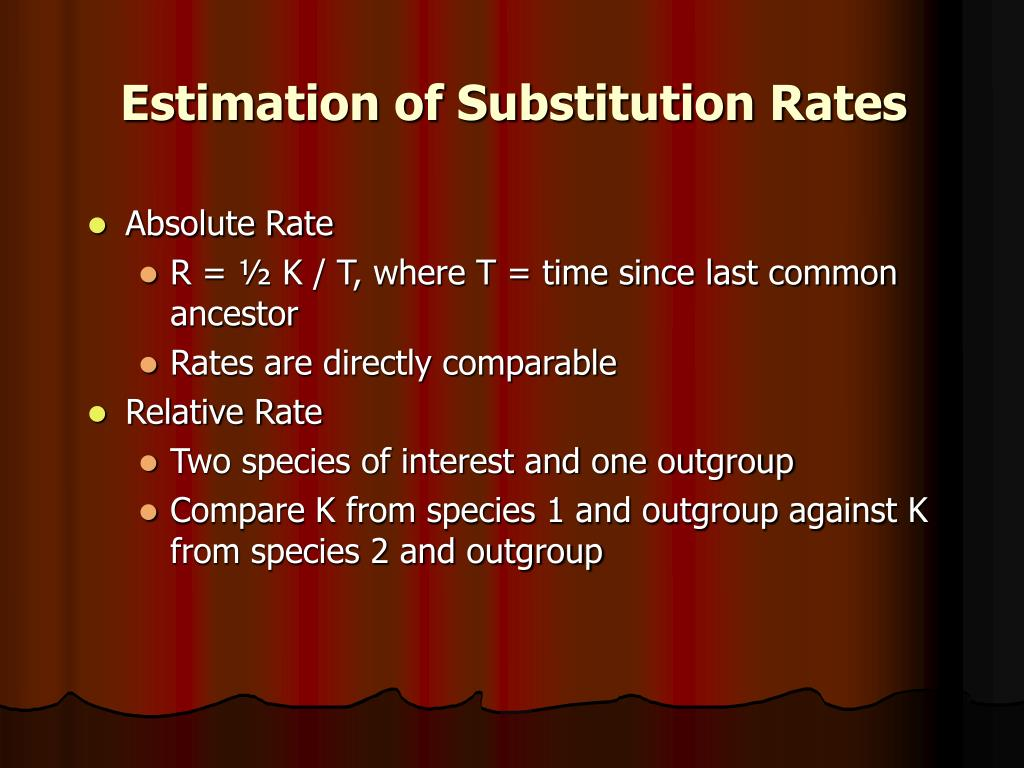 Estimation of Substitution Rates