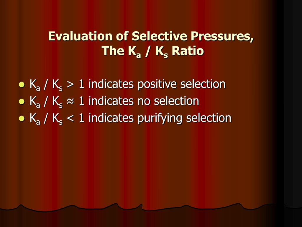 Evaluation of Selective Pressures,