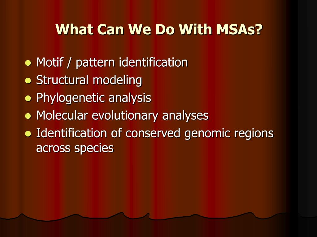 What Can We Do With MSAs?