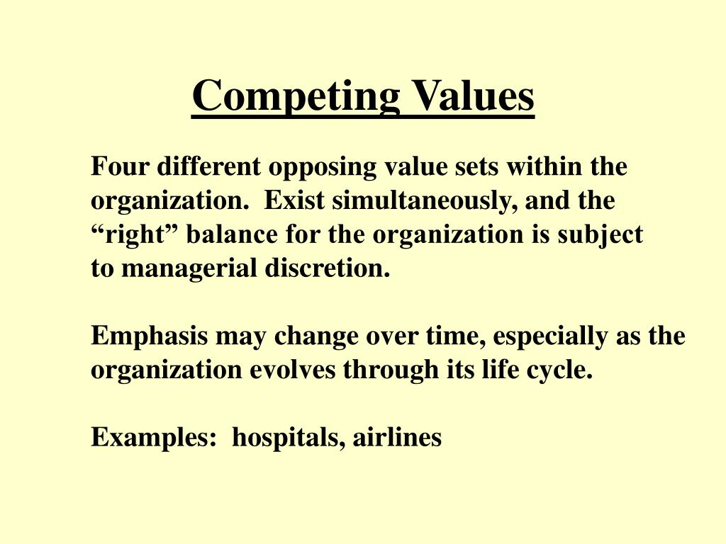 Competing Values