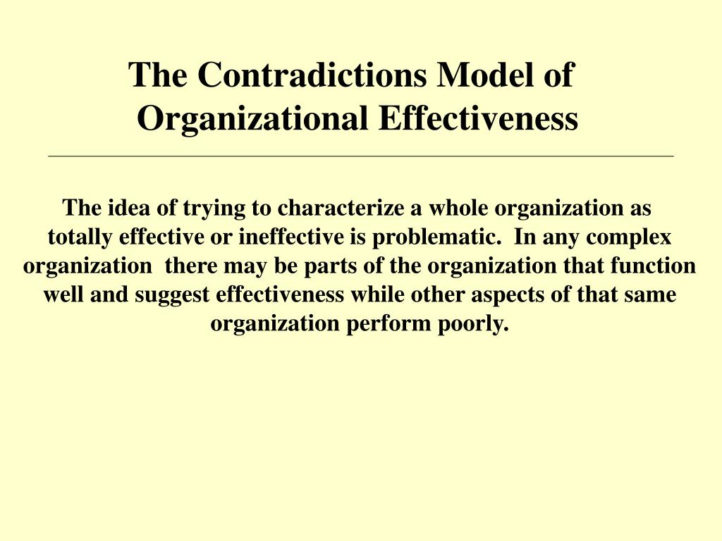 The Contradictions Model of