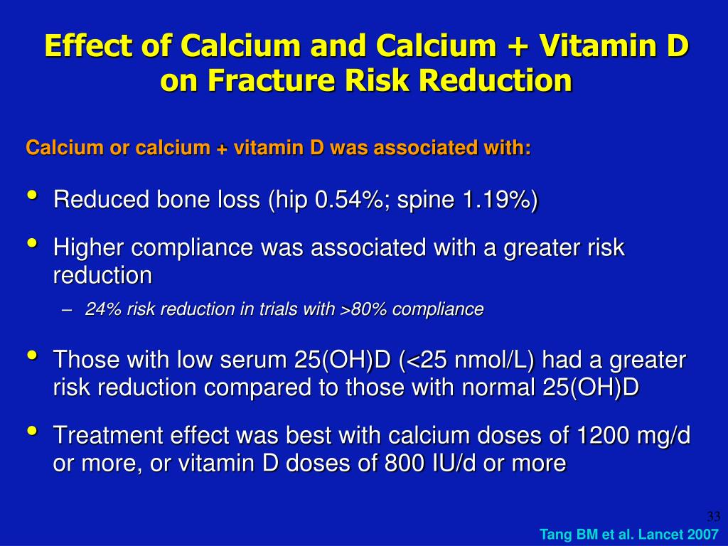 Effect of Calcium and Calcium + Vitamin D