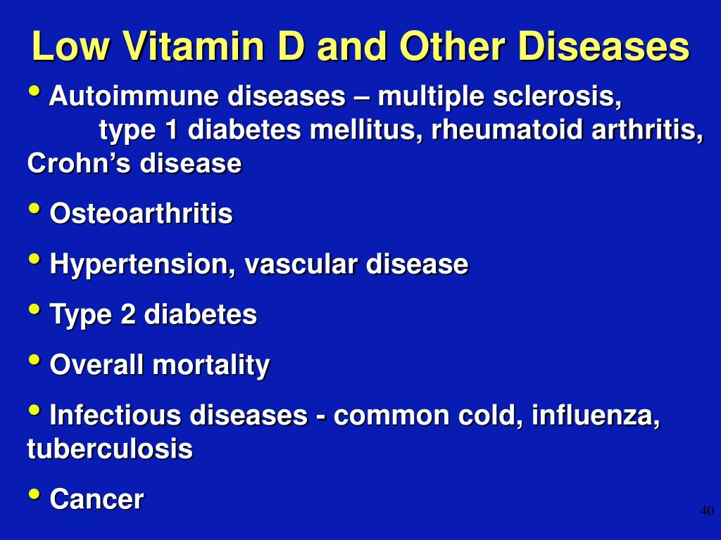 Low Vitamin D and Other Diseases
