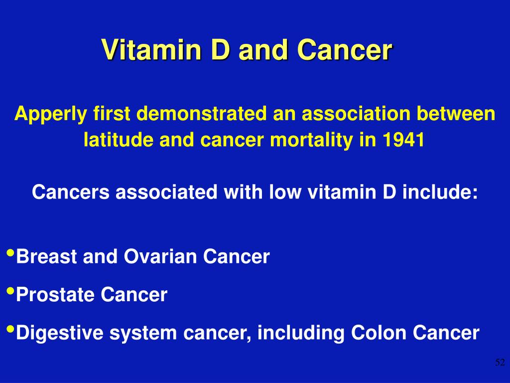 Vitamin D and Cancer