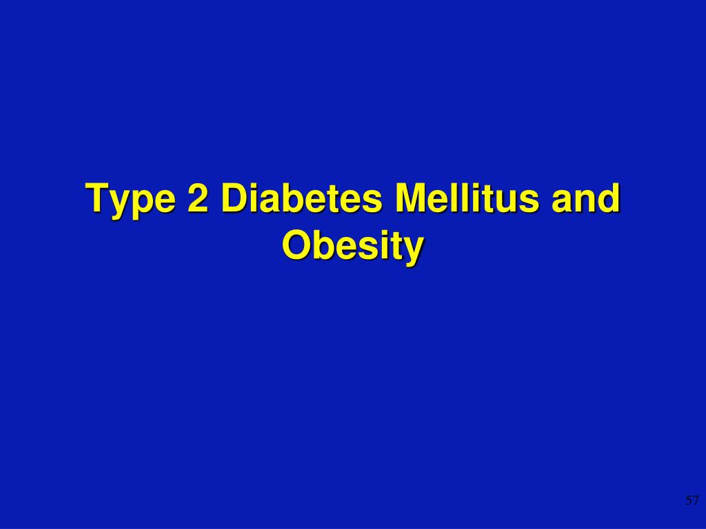 Type 2 Diabetes Mellitus and Obesity