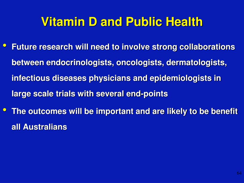 Vitamin D and Public Health