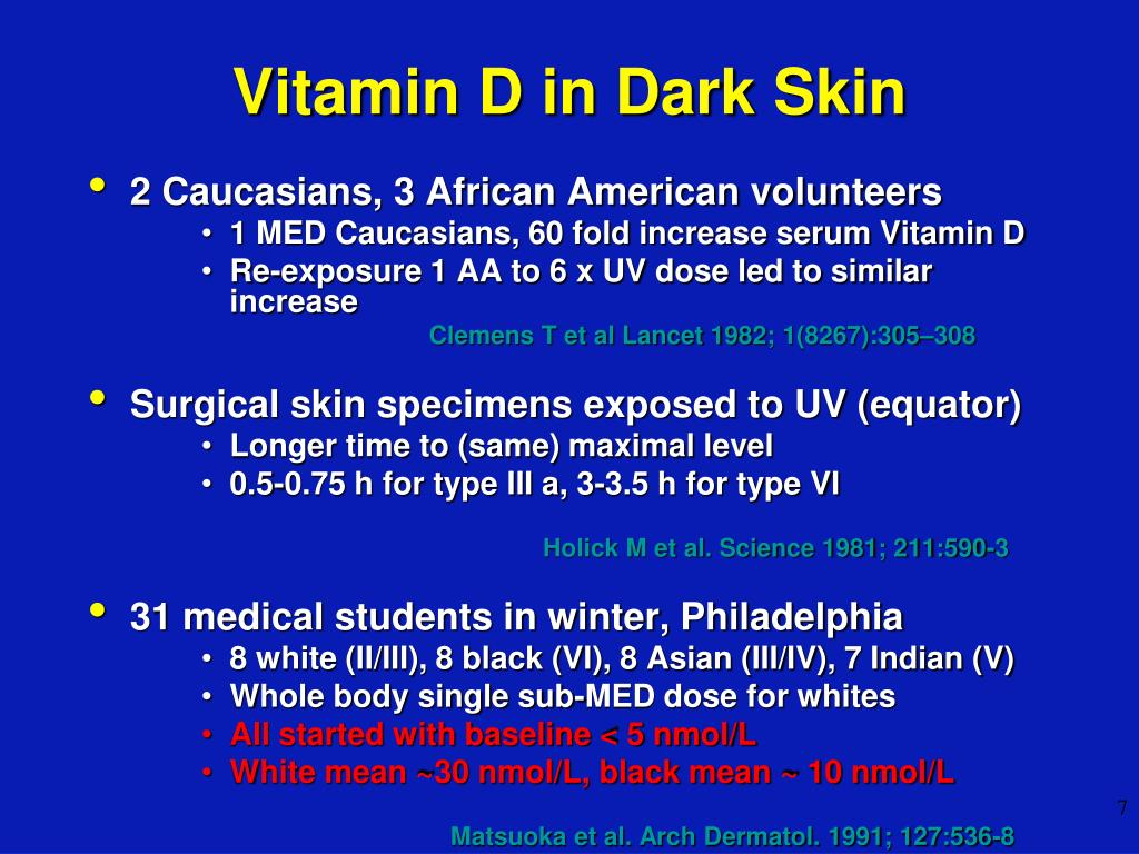 Vitamin D in Dark Skin