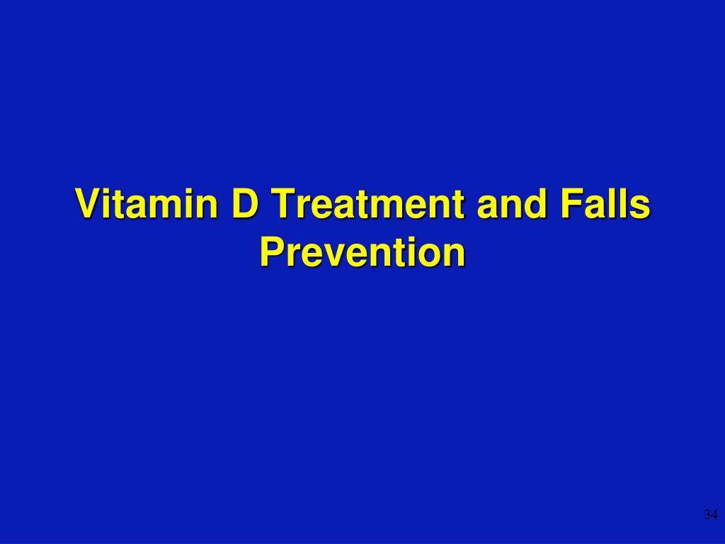 Vitamin D Treatment and Falls Prevention