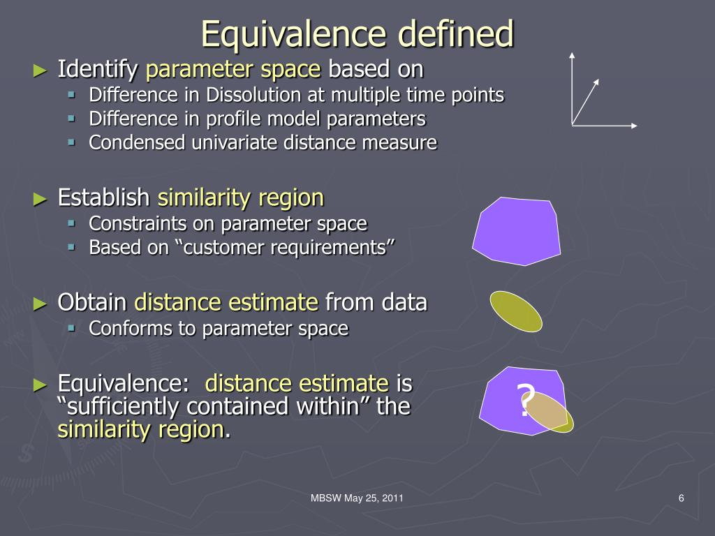 Equivalence defined