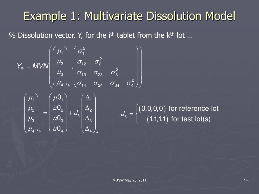 Example 1: Multivariate Dissolution Model