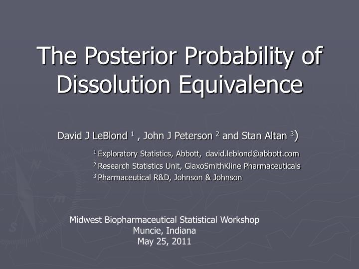 The posterior probability of dissolution equivalence l.jpg