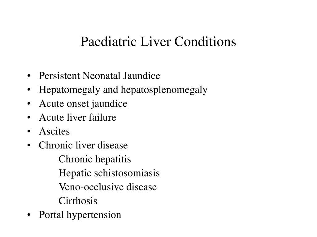 Paediatric Liver Conditions