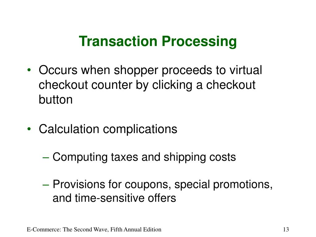 Transaction Processing