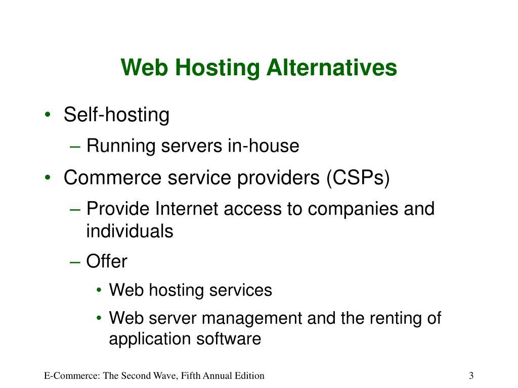 Web Hosting Alternatives
