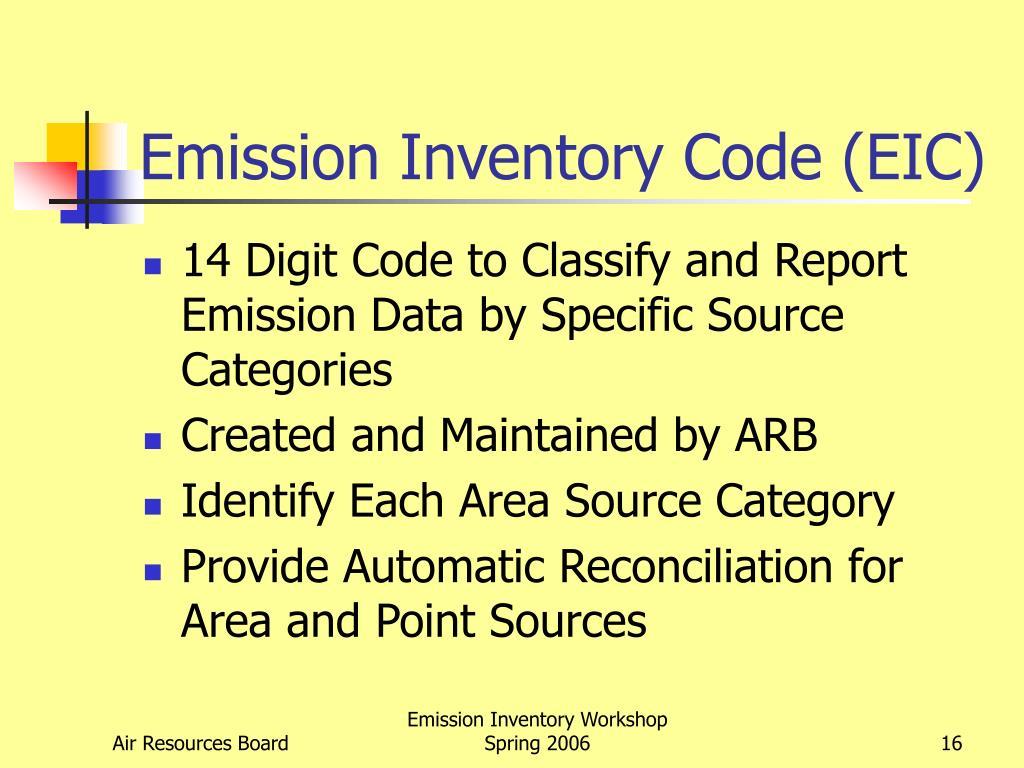 Emission Inventory Code (EIC)