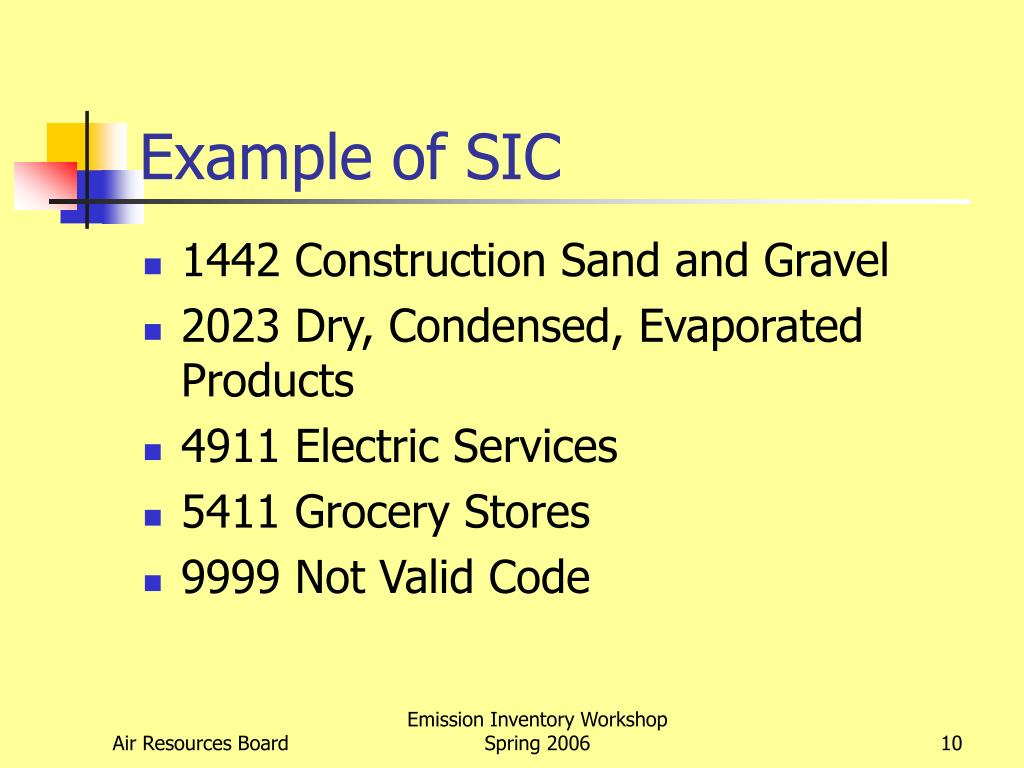 Example of SIC