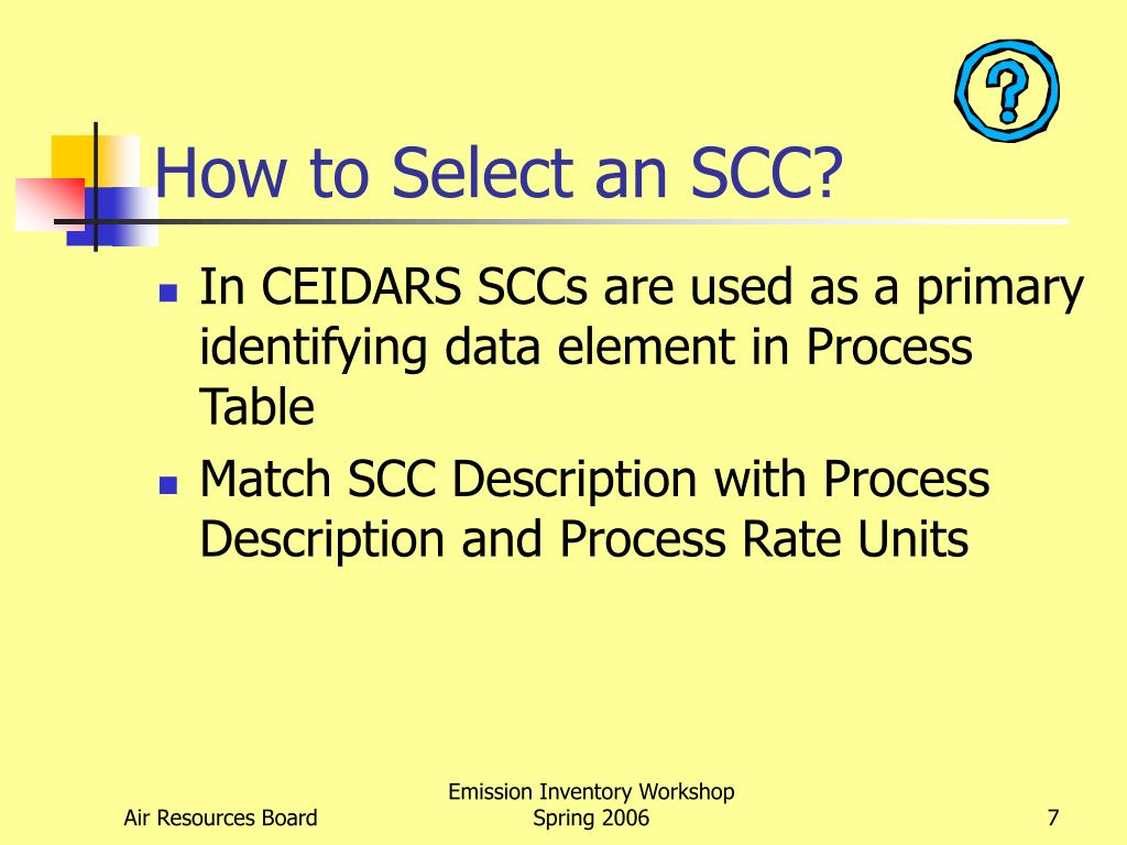 How to Select an SCC?