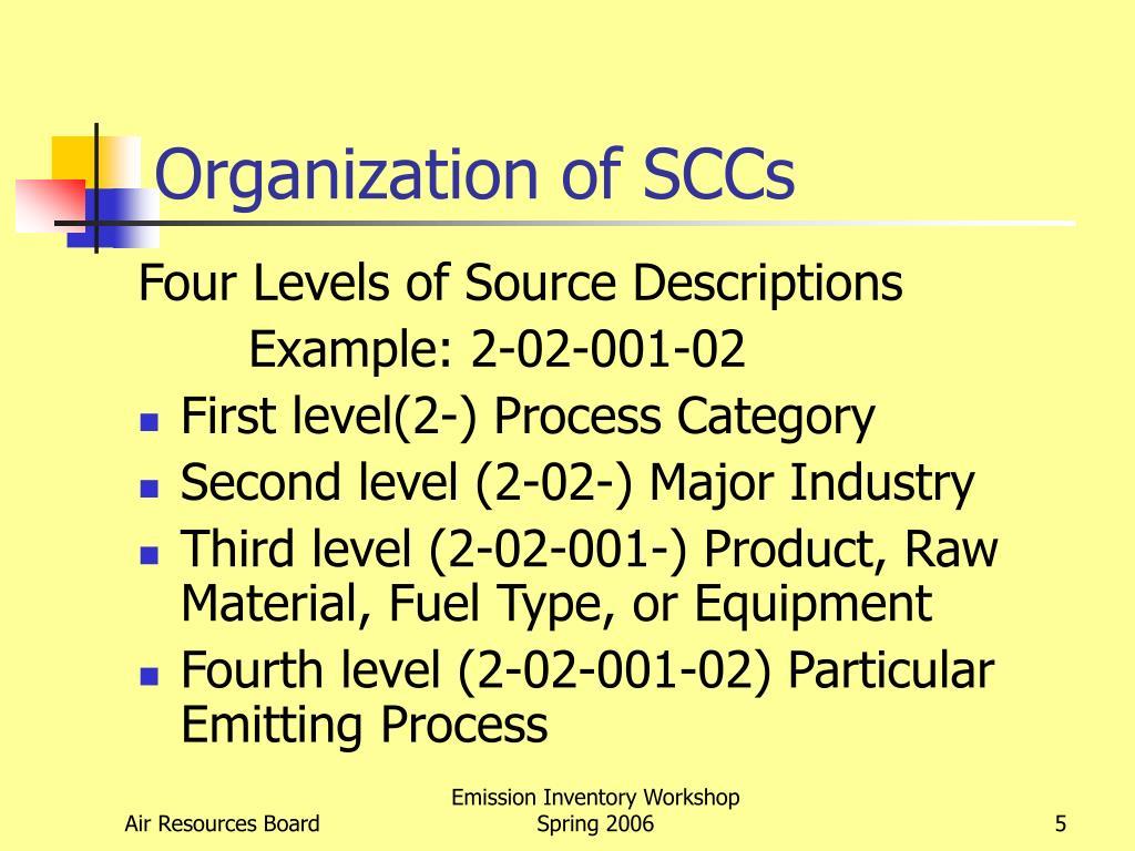 Organization of SCCs