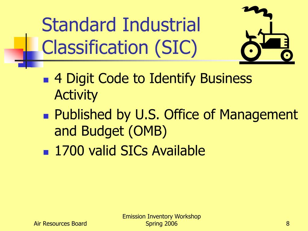 Standard Industrial Classification (SIC)