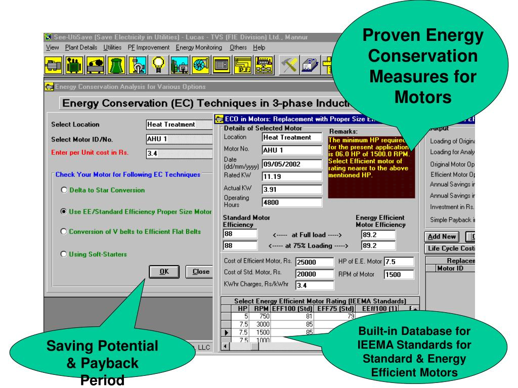 Proven Energy Conservation Measures for  Motors