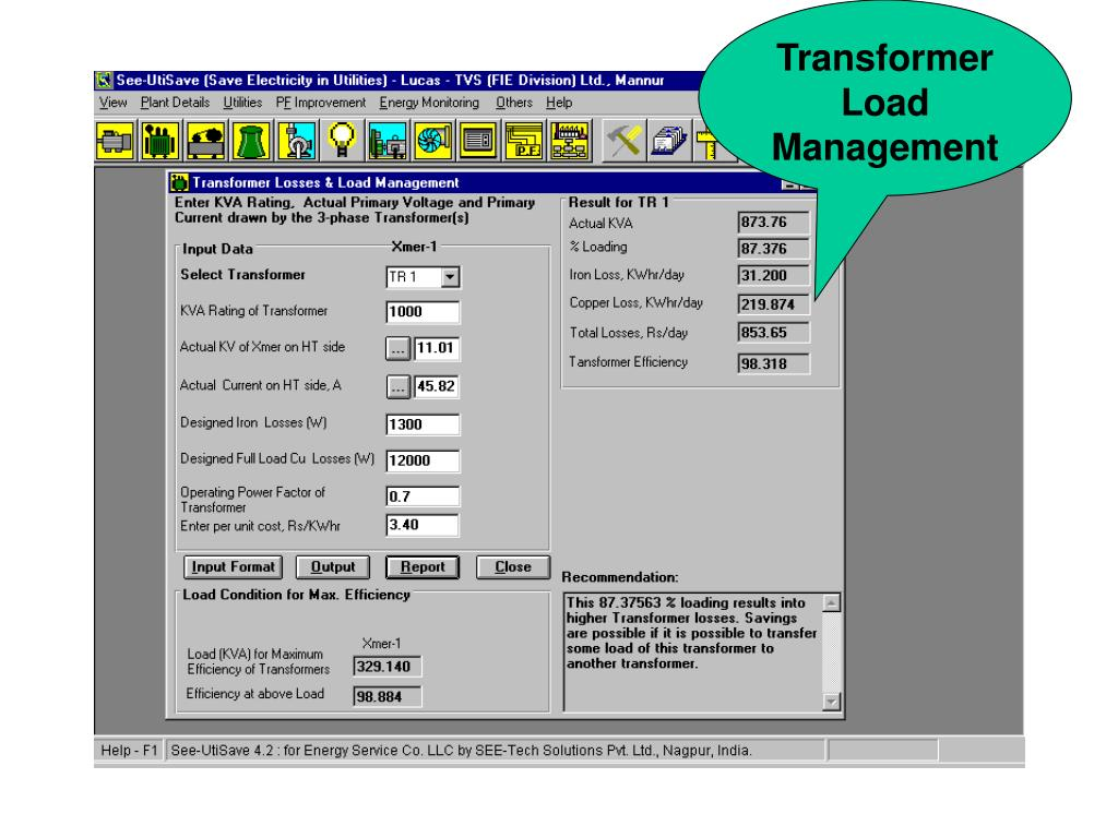 Transformer Load Management