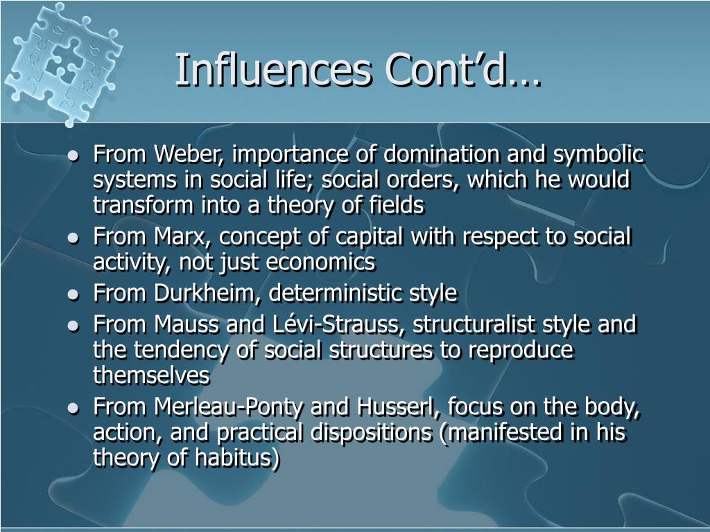 Influences Cont'd…