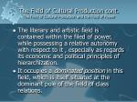 the field of cultural production cont the field of cultural production and the field of power