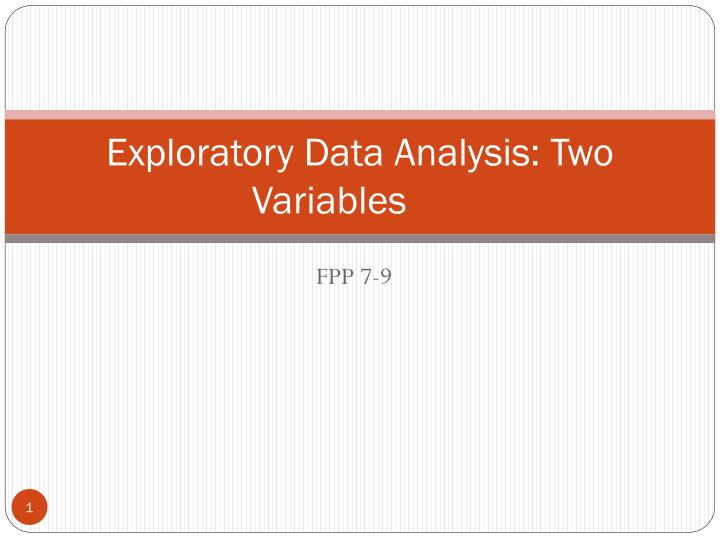 Exploratory data analysis two variables
