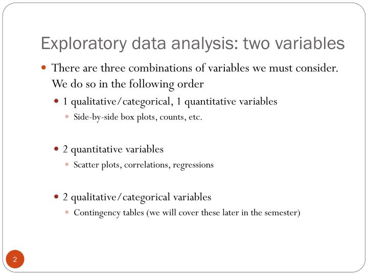 Exploratory data analysis two variables2