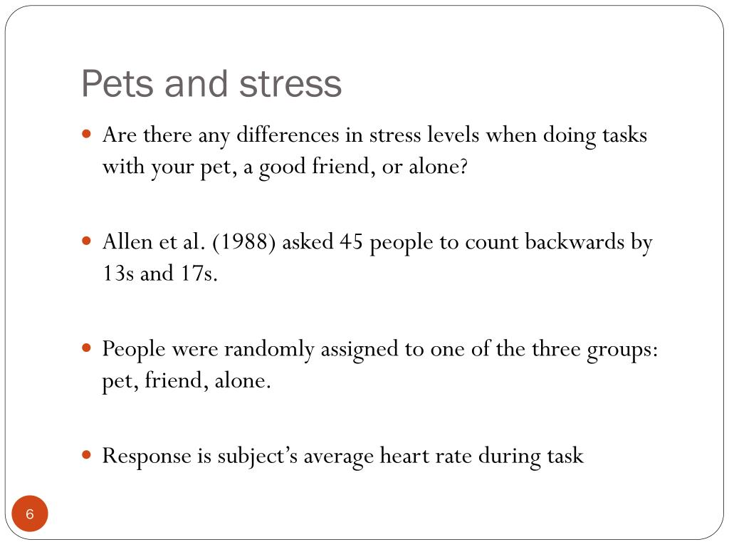 Pets and stress