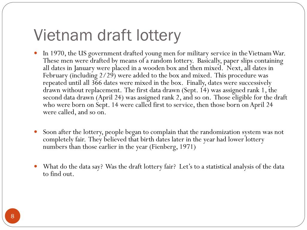 Vietnam draft lottery