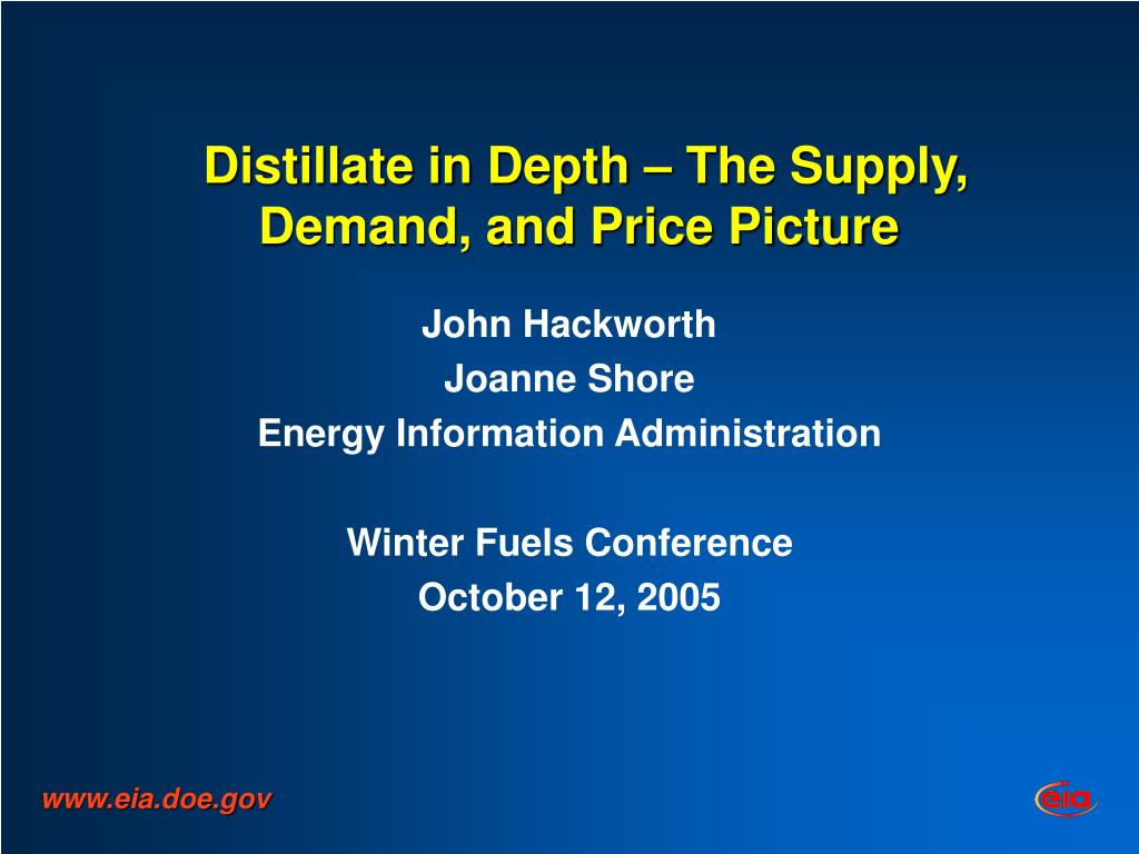 Distillate in Depth – The Supply, Demand, and Price Picture