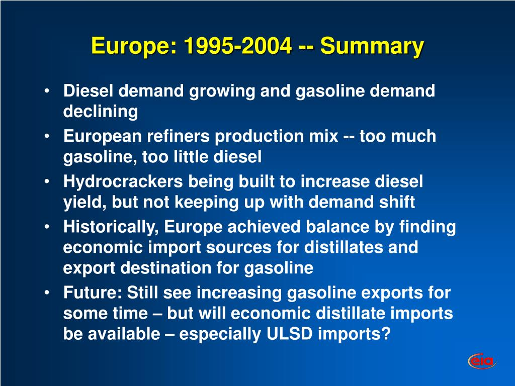 Europe: 1995-2004 -- Summary
