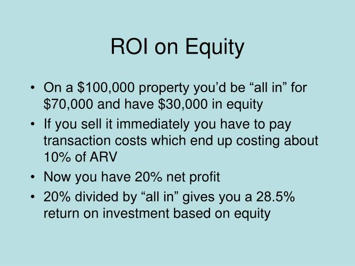 ROI on Equity