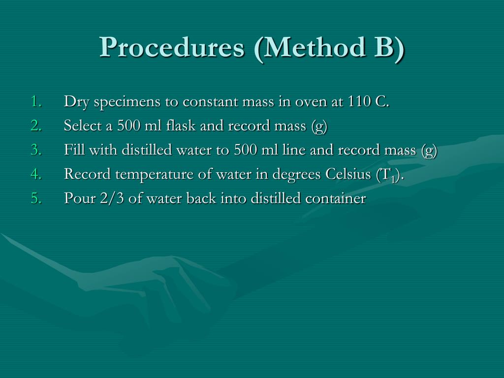Procedures (Method B)