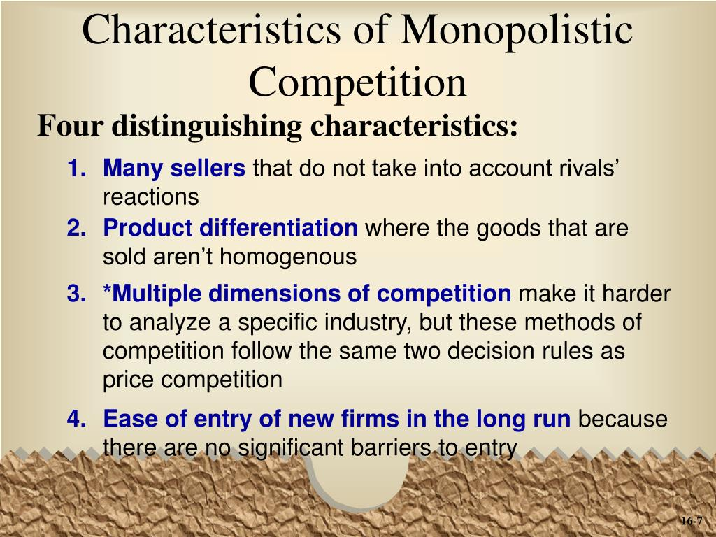 the four characteristic of monopoly Best answer: monopoly market structure is that which has a single seller of a product which has no close substitutesthe characteristics of a monopoly.