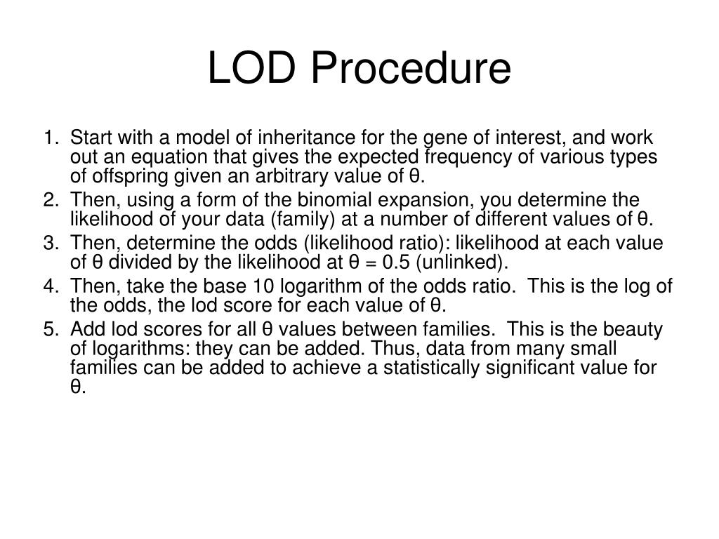 LOD Procedure