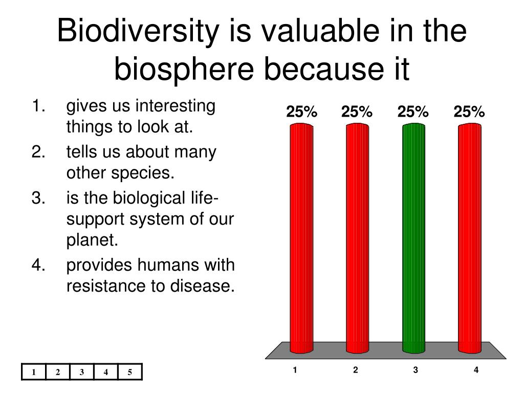 Biodiversity is valuable in the biosphere because it