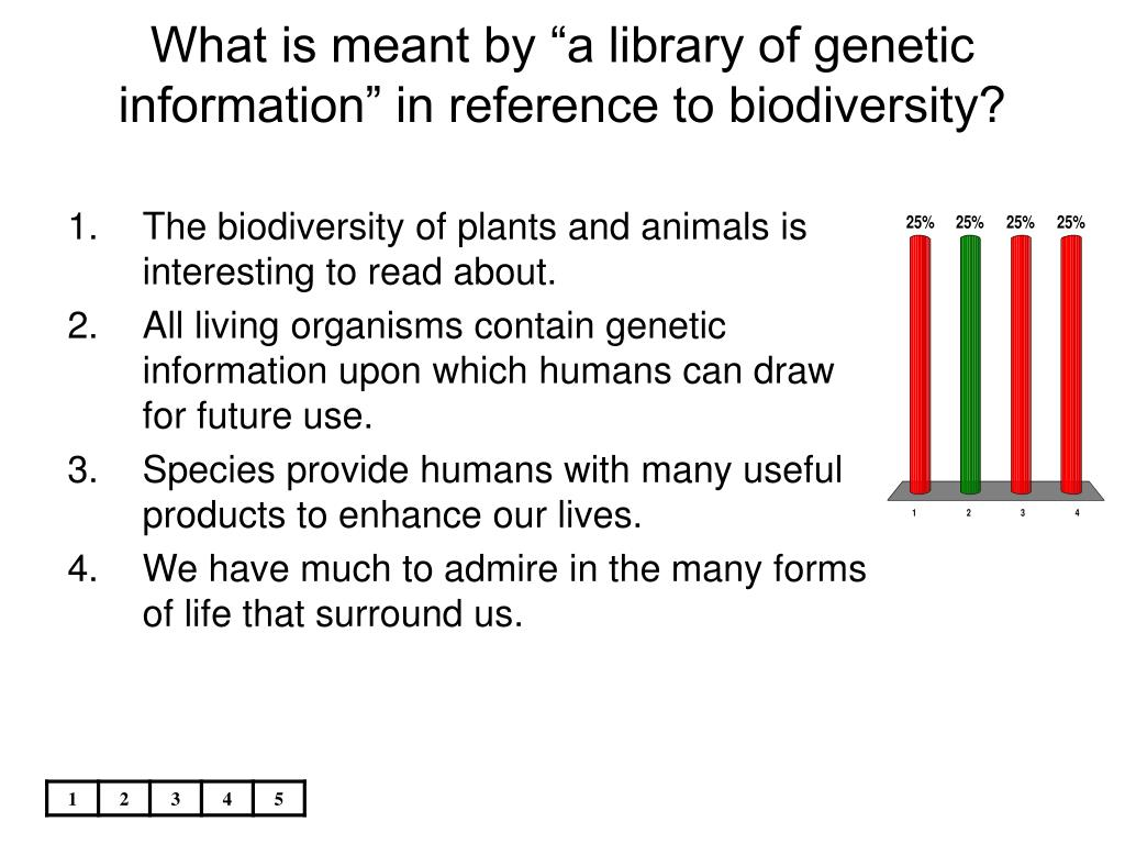 "What is meant by ""a library of genetic information"" in reference to biodiversity?"
