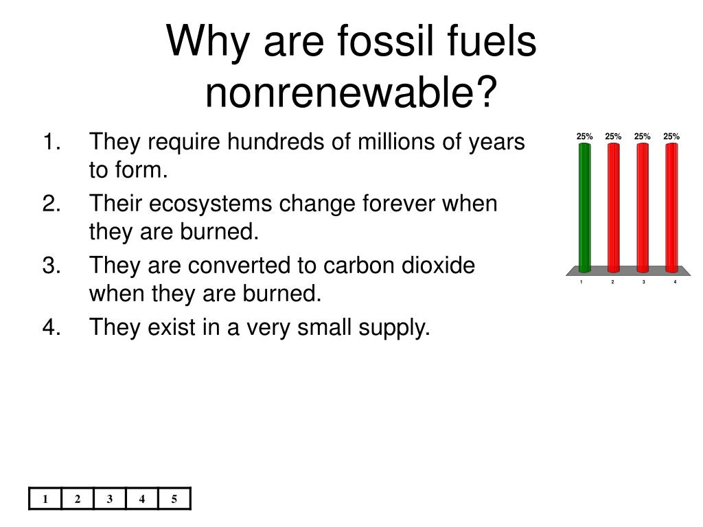 Why are fossil fuels nonrenewable?