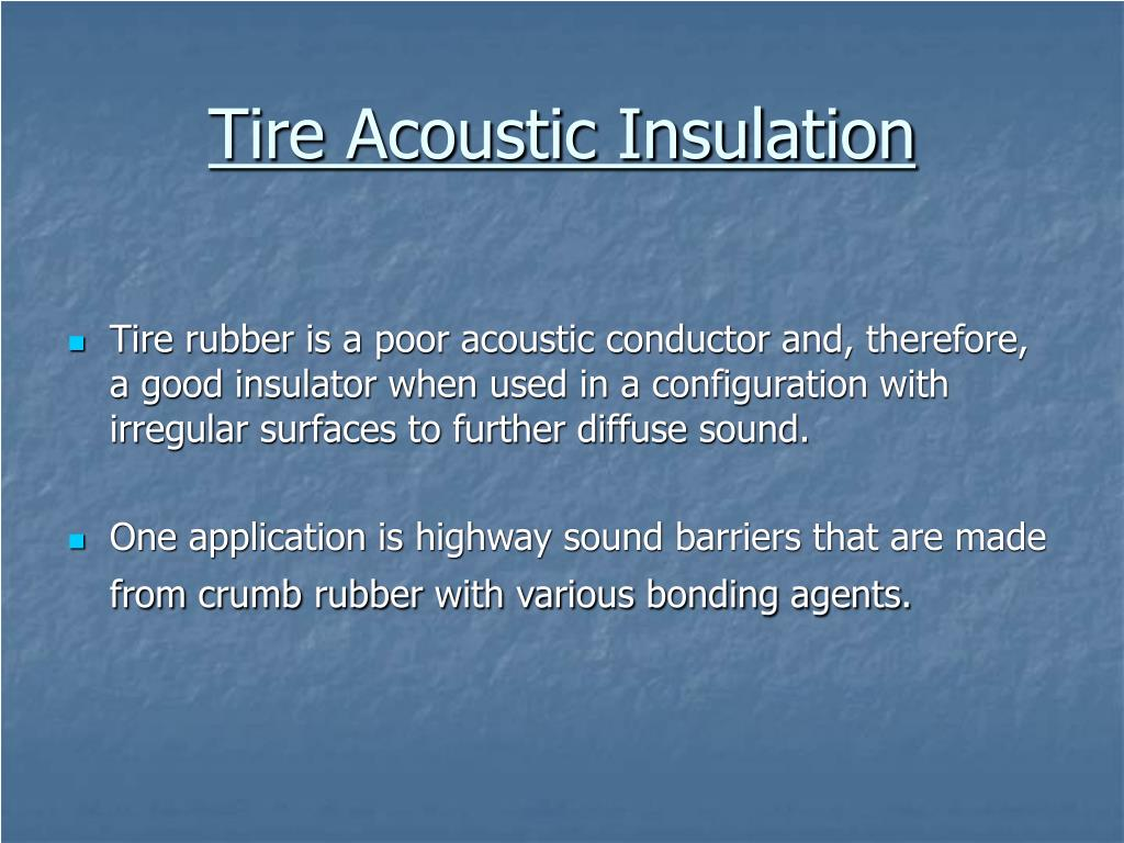 Tire Acoustic Insulation