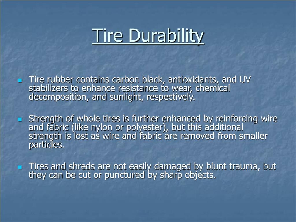 Tire Durability