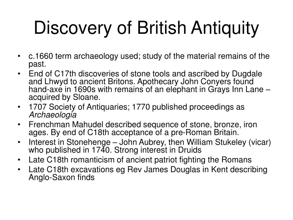 Discovery of British Antiquity