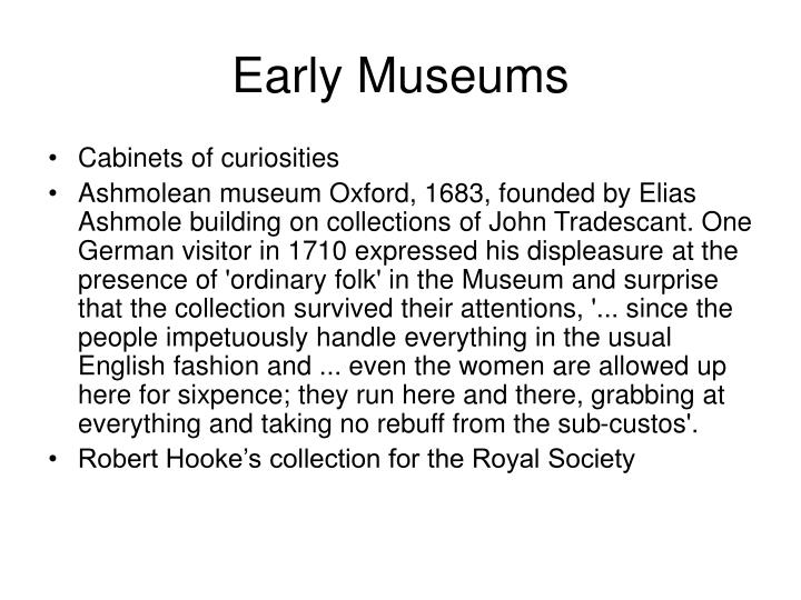 Early museums