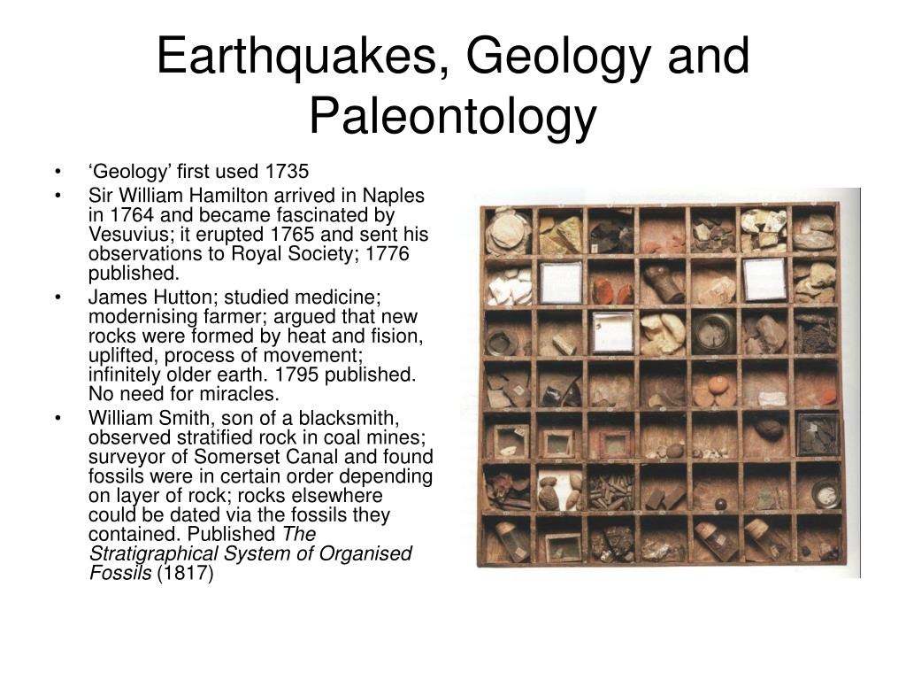 Earthquakes, Geology and Paleontology