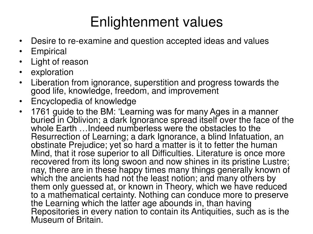 Enlightenment values