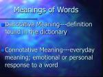 meanings of words