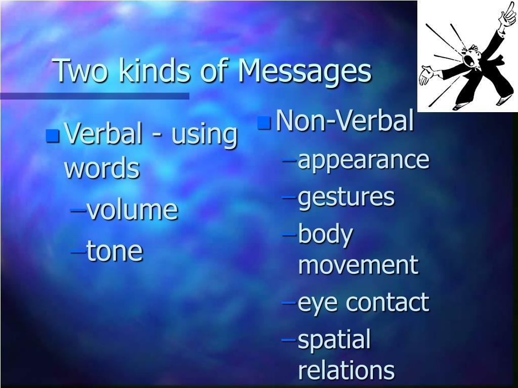 Verbal - using words